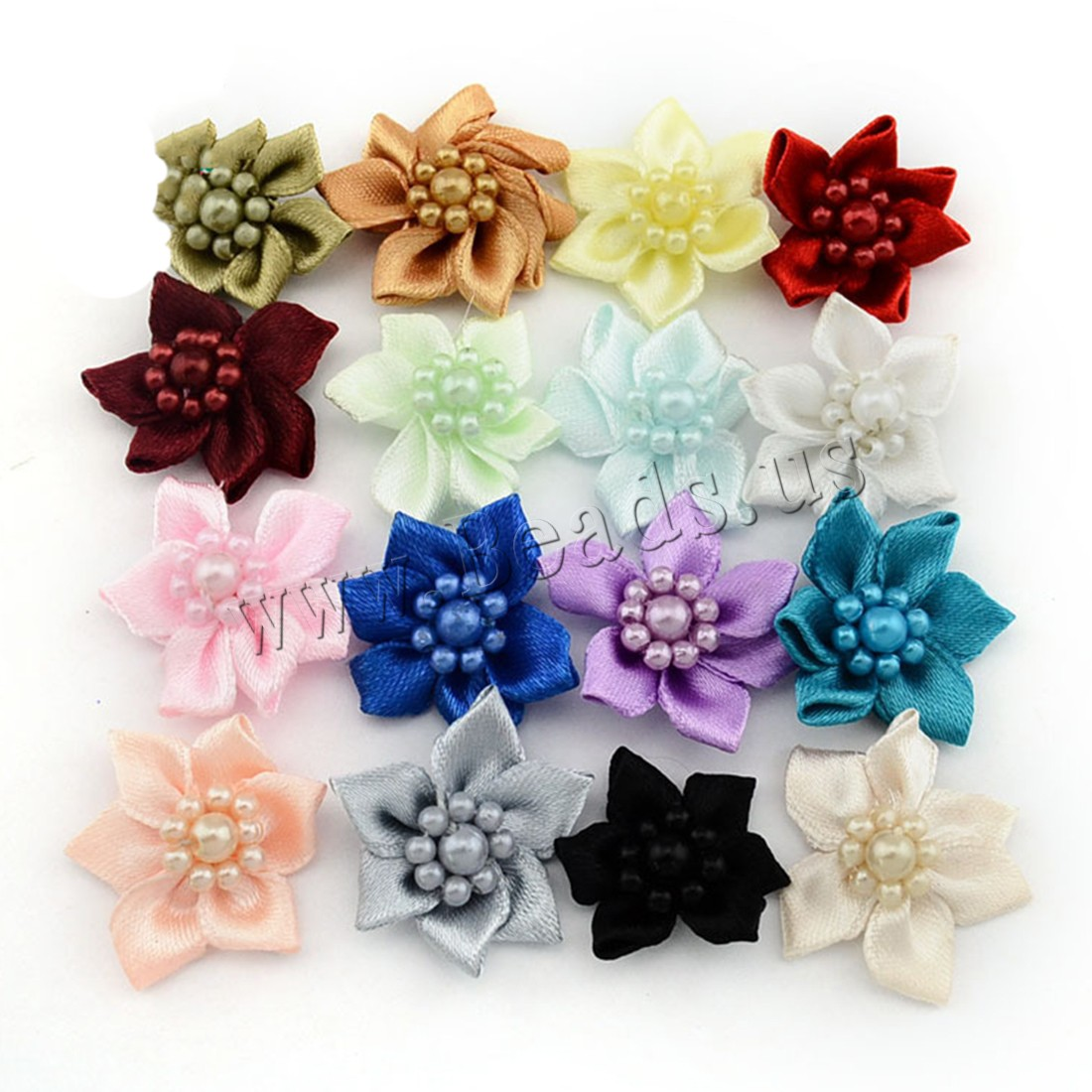 Buy Fashion Decoration Flowers Satin Ribbon Plastic Pearl children mixed colors 30mm 200PCs/Bag Sold Bag