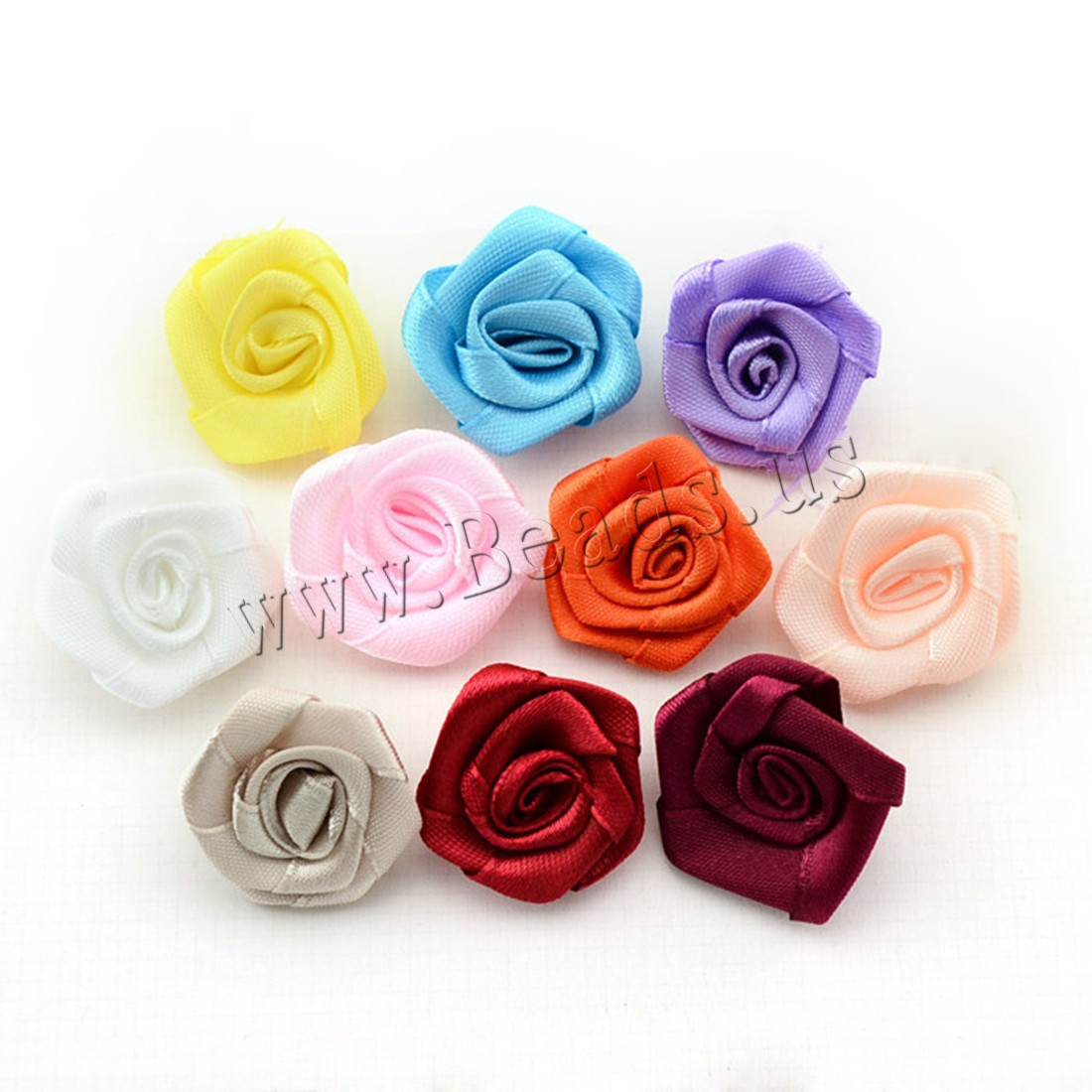 Buy Fashion Decoration Flowers Satin Ribbon children mixed colors 30mm 200PCs/Bag Sold Bag