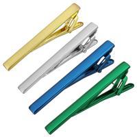 Krawatte Clip, Zinklegierung, plattiert, unisex, keine, frei von Nickel, Blei & Kadmium, 6.50x61x19mm, verkauft von PC