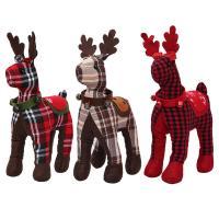 Stoff Weihnachten Rentier-Puppe, Weihnachtselch, verschiedene Muster für Wahl, 30x18cm, verkauft von PC