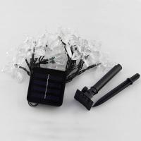 LED Globe und Sternenhimmel Lichterketten Dekorative Draht Lichter Strings Lichter, ABS Kunststoff, Schmetterling, Solar angetrieben & wasserdicht, keine, 75x50mm, verkauft per ca. 4.8 m Strang