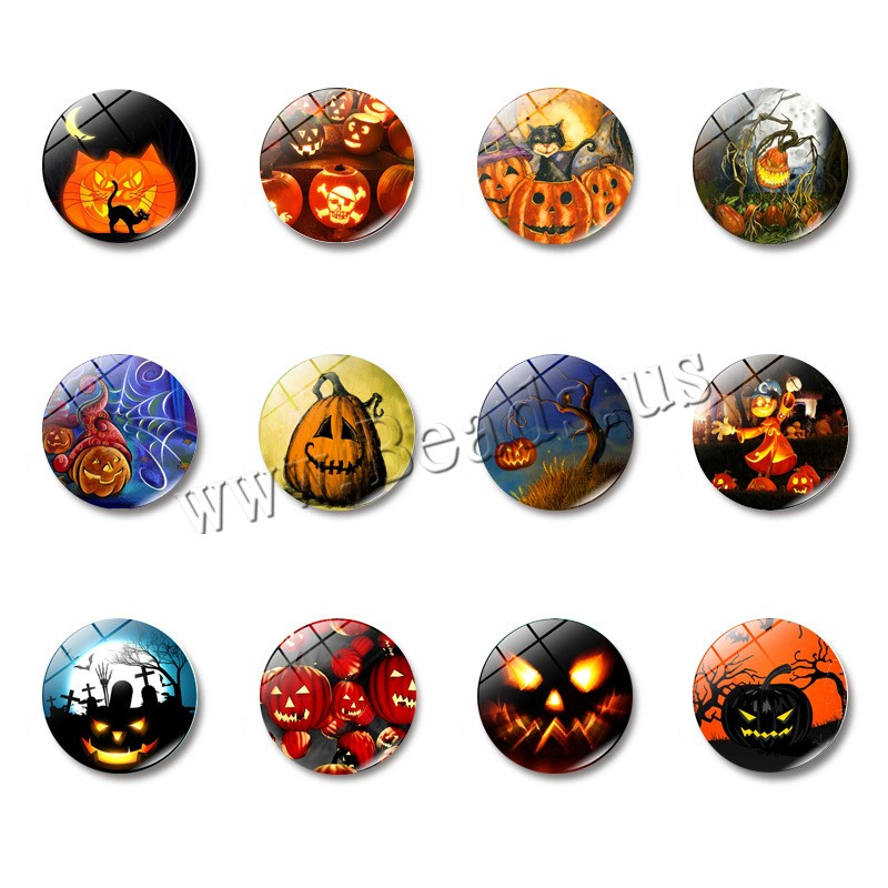 Buy Fridge Magnets Glass Magnetic Hematite Flat Round time gem jewelry & Halloween Jewelry Gift & different designs choice & decal 25x8mm 10PCs/Bag Sold Bag