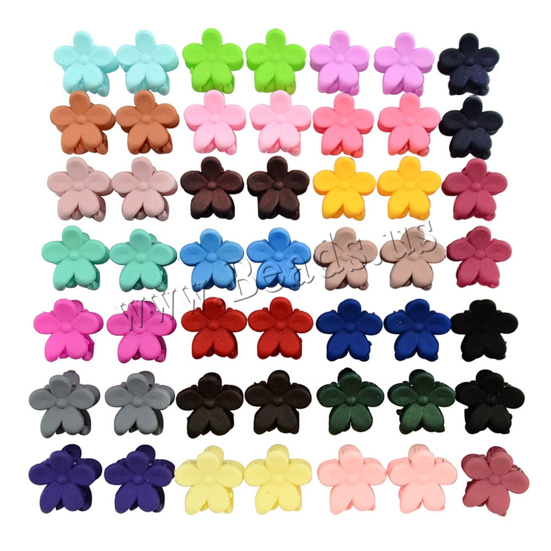 Buy Hair Claw Clips Resin Flower children mixed colors 12mm 5 Sold Lot