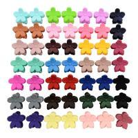 Haarklammer, Harz, Blume, für Kinder, gemischte Farben, 12mm, 50PCs/Menge, verkauft von Menge
