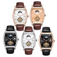 TEVISE® Uhrenkollektion, Kuhhaut, mit Glas & Edelstahl, plattiert, 30 m wasserdicht & stem-Winder & einstellbar & für den Menschen, keine, 40x46x16mm, Länge:ca. 9.4 ZollInch, verkauft von PC