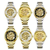 TEVISE® Uhrenkollektion, Edelstahl, mit Glas, plattiert, 30 m wasserdicht & stem-Winder & für den Menschen & mit Strass, keine, 40x40x14mm, 20mm, Länge:ca. 7 ZollInch, verkauft von PC