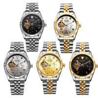 TEVISE® Uhrenkollektion, Edelstahl, mit Glas, plattiert, 30 m wasserdicht & stem-Winder & für den Menschen & mit Strass, keine, 38.5x38.5x15.5mm, Länge:ca. 7 ZollInch, verkauft von PC