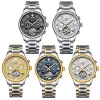 TEVISE® Uhrenkollektion, Edelstahl, mit Glas, plattiert, 30 m wasserdicht & stem-Winder & für den Menschen, keine, 39x39x14mm, 20mm, Länge:ca. 7 ZollInch, verkauft von PC