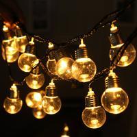 Kunststoff Lampe mit Steckdose, LED, gemischte Farben, 45mm, Länge:5.8 m, verkauft von PC