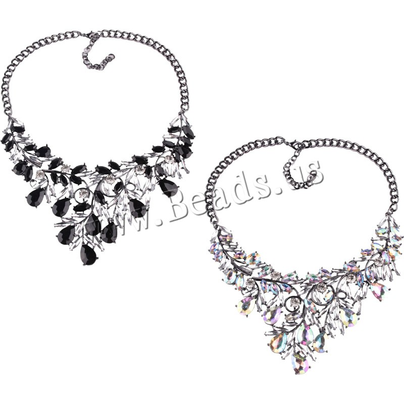 Buy Zinc Alloy Necklace Crystal 2.9lnch extender chain plumbum black color plated twist oval chain & woman & faceted & rhinestone colors choice nickel lead & cadmium free 85mm Sold Per Approx 17.7 Inch Strand