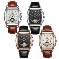 TEVISE® Uhrenkollektion, Kuhhaut, mit Glas & Edelstahl, plattiert, 30 m wasserdicht & stem-Winder & einstellbar & für den Menschen, keine, 41x15mm, 18mm, Länge:ca. 9.4 ZollInch, verkauft von PC