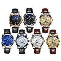 TEVISE® Uhrenkollektion, Kuhhaut, mit Glas & Edelstahl, plattiert, 30 m wasserdicht & stem-Winder & einstellbar & für den Menschen, keine, 42x42x13mm, Länge:ca. 9.4 ZollInch, verkauft von PC