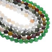 Mischedelstein Perlen, Edelstein, verschiedenen Materialien für die Wahl & verschiedene Größen vorhanden & facettierte, Bohrung:ca. 1mm, verkauft per ca. 15 ZollInch Strang