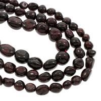 Natürlicher Granat Perlen, verschiedene Größen vorhanden, Bohrung:ca. 1, 1.5mm, verkauft per 15.5 ZollInch Strang