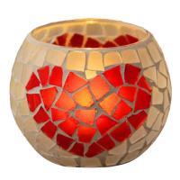 Glas Kerzenhalter, verschiedene Muster für Wahl, 105x80mm, 70mm, verkauft von PC