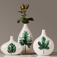 Porzellan Vase, grün, 175mm, 320mm, 230mm, verkauft von setzen