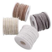 Lederband, PU Leder, mit Aluminium, keine, 5x2mm, 10m/Spule, verkauft von Spule