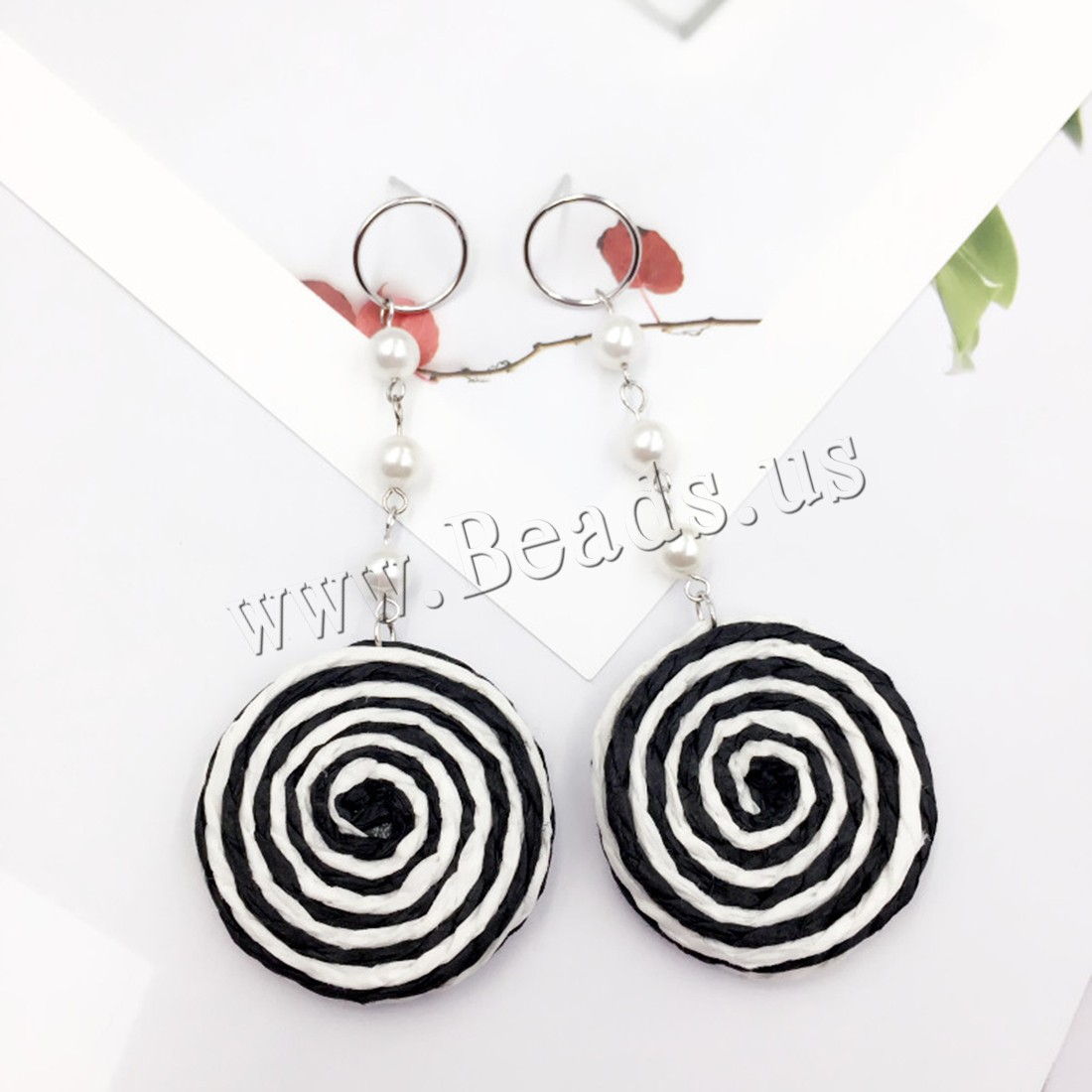 Buy South Sea Shell Earring 925 Sterling Silver Shell Pearl & Paper woman 32x77mm Sold Pair