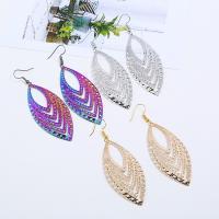 Edelstahl Tropfen Ohrring, Eisen Haken, Spritzlackierung, für Frau, keine, 85x28mm, verkauft von Paar