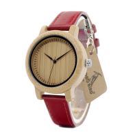 BOBOBIRD® Unisex Uhr, PU Leder, mit Zifferblatt aus Holz & Glas & Edelstahl, einstellbar, originale Farbe, 38mm, 14.5mm, Länge:ca. 6.5-8.5 ZollInch, verkauft von PC
