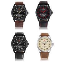 NAVIFORCE® Uhrenkollektion, Leder, mit Titan Legierung & Glas & Zinklegierung, plattiert, für den Menschen, keine, 45x13mm, Länge:ca. 10 ZollInch, verkauft von PC