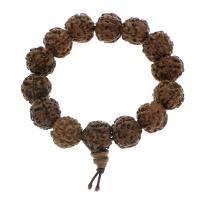 Holz Armbänder, 17x17mm, Länge:ca. 7.5 ZollInch, 50SträngeStrang/Tasche, verkauft von Tasche