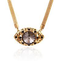 Kristall Zinklegierung Halskette, mit Kristall, mit Verlängerungskettchen von 5cm, plattiert, für Frau & facettierte & mit Strass & hohl, keine, frei von Blei & Kadmium, 450mm, verkauft per ca. 17.5 ZollInch Strang