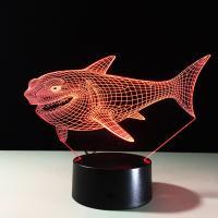 Nachtlampe, Acryl, Hai, automatisch die Farbe wechseln & verschiedene Stile für Wahl, 640x350x470mm, verkauft von PC