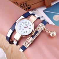 Damen Armbanduhr, PU Leder, mit Glas & Zinklegierung, plattiert, für Frau & 3-Strang, keine, 26mm, 6mm, Länge:ca. 21.6 ZollInch, verkauft von PC