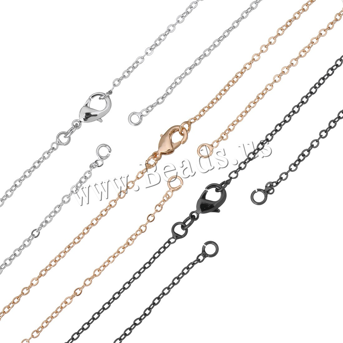 Brass Necklace Findings plated oval chain colors choice 2x1.80x0.50mm Length:Approx 18 Inch 50Strands/Bag Sold Bag