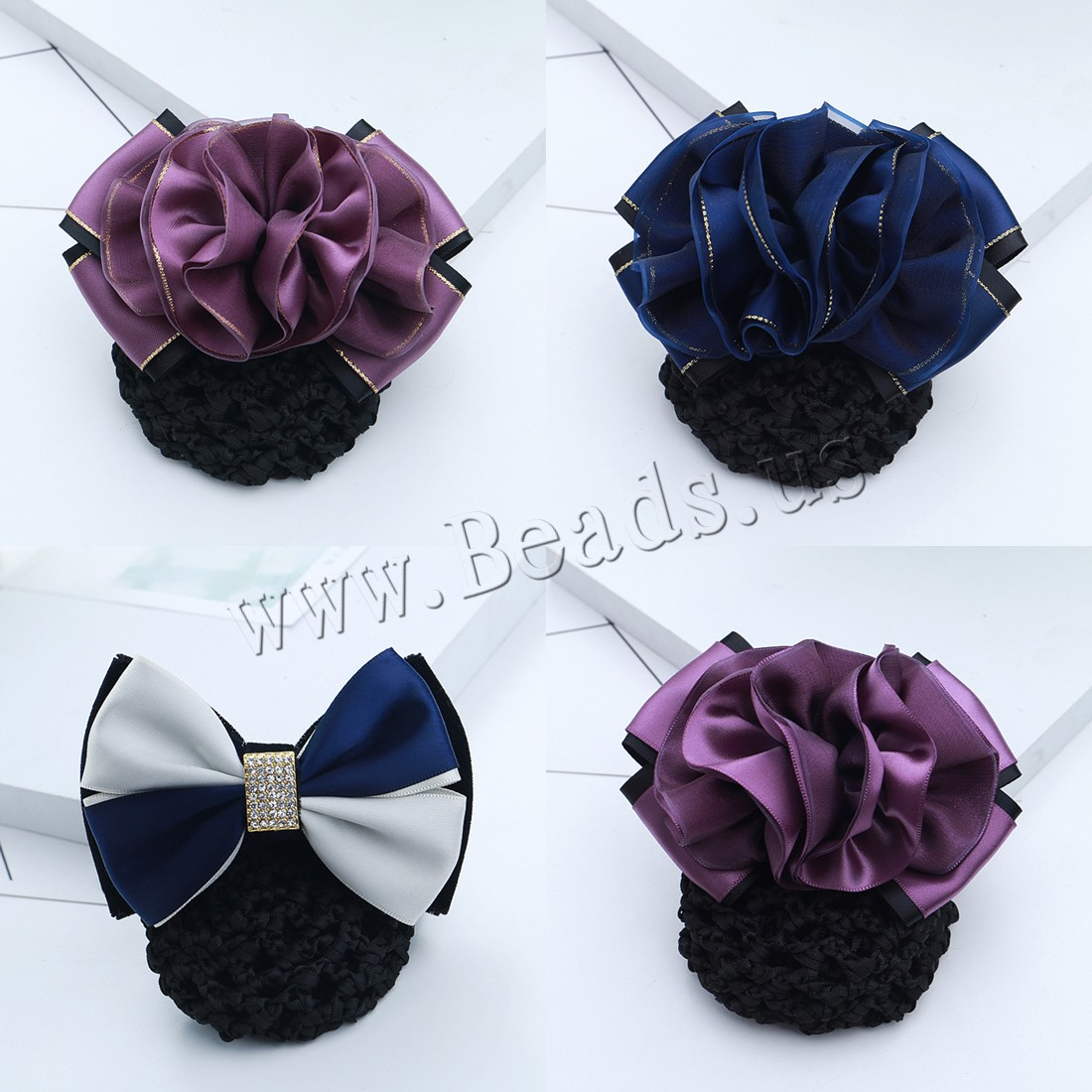 Buy Mixed Hair Accessories Polyester Lace & Iron & Zinc Alloy plated different styles choice & iron-on & woman & rhinestone nickel lead & cadmium free 115x70-85mm Sold PC