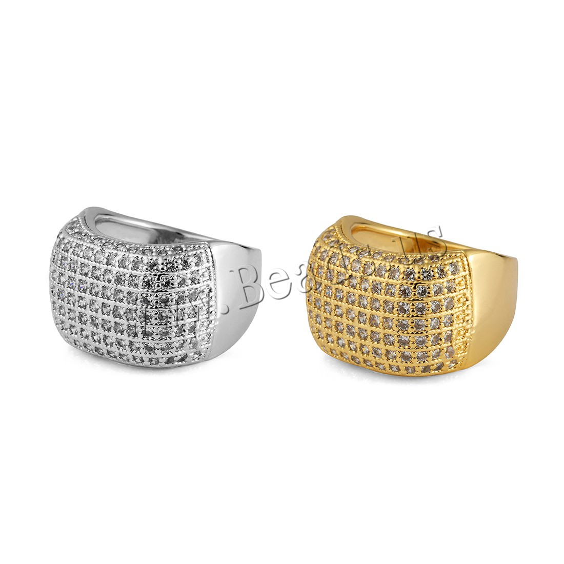 Brass Finger Ring plated Unisex & rhinestone colors choice 16mm Sold PC