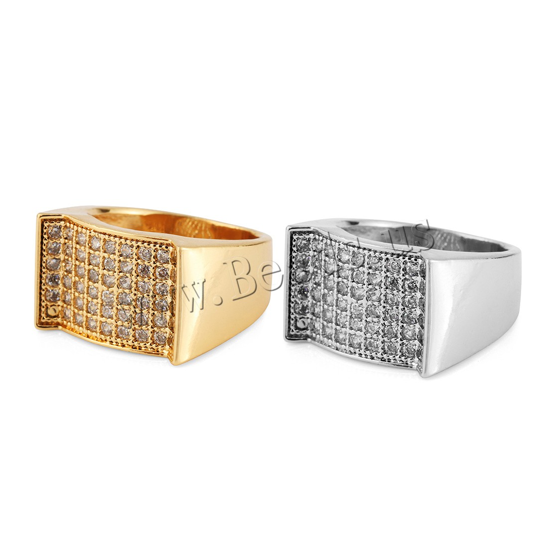 Buy Brass Finger Ring plated Unisex & rhinestone colors choice 13mm Sold PC