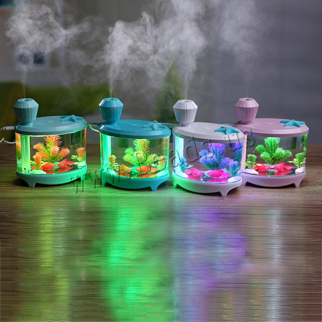 Buy Humidifiers & Accessories ABS Plastic Silicone 2-8hours' timing & less 1L & USB interface & LED colors choice 145x125x86mm Sold PC