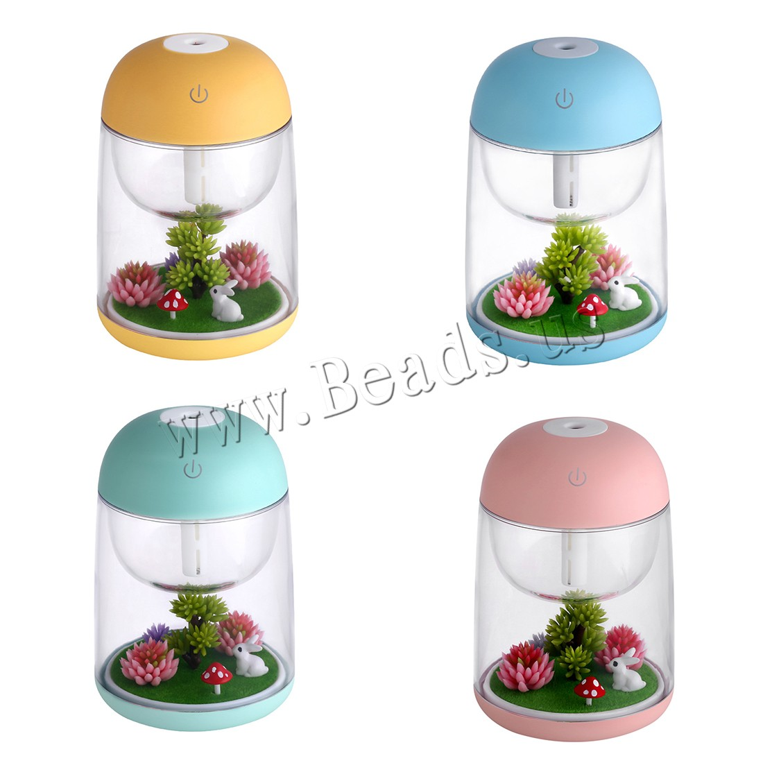 Buy Humidifiers & Accessories ABS Plastic Polypropylene(PP) & Silicone 2-8hours' timing & less 1L & USB interface & LED colors choice 100x100x150mm Sold PC
