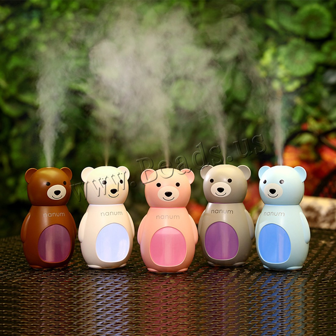 Buy Humidifiers & Accessories ABS Plastic Polypropylene(PP) & PET & Silicone Bear 2-8hours' timing & less 1L & ultrasound & USB interface & LED colors choice 82x63x132mm Sold PC