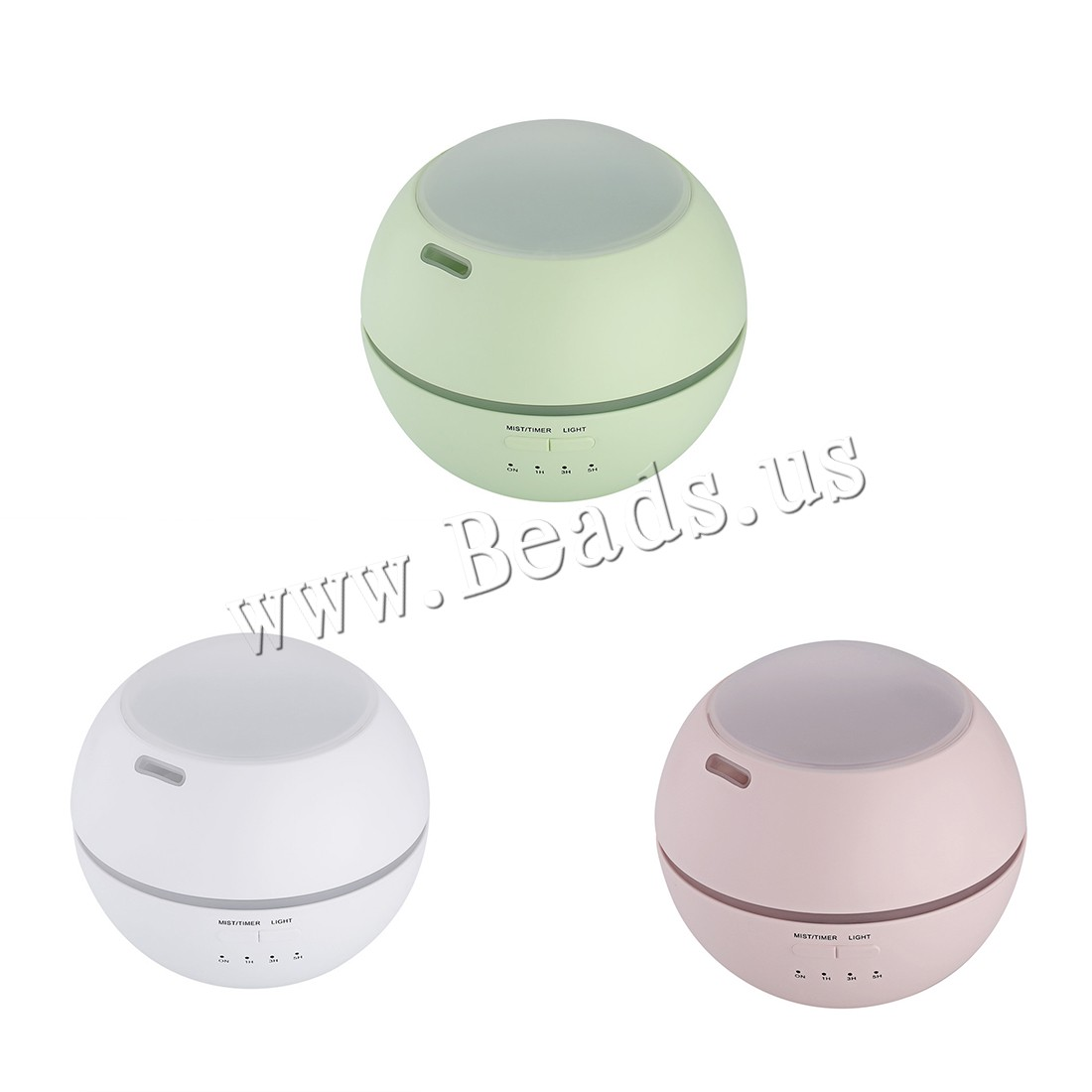 Buy Humidifiers & Accessories ABS Plastic Polypropylene(PP) & PVC Plastic Round 2-8hours' timing & less 1L & USB interface & LED colors choice 120x120x108mm Sold PC