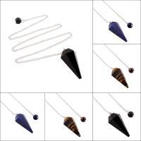 Edelstein mit Zinklegierung, Eiszapfen, verschiedenen Materialien für die Wahl & unisex & Twist oval, 18x40x16mm, verkauft per ca. 17.5 ZollInch Strang