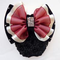 Polyester Haarschmuck Blume, mit Spitze & Baumwollsamt & Eisen, Aufbügeln & für Frau, keine, 115x80mm, verkauft von PC