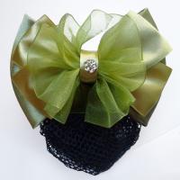 Polyester Haarschmuck Blume, mit Spitze & Kunststoff Perlen & Eisen & Zinklegierung, goldfarben plattiert, verschiedene Stile für Wahl & für Frau & mit Strass, 115x80mm, verkauft von PC