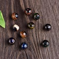 Handgewickelte Perlen, Lampwork, rund, handgemacht, verschiedene Größen vorhanden, keine, Bohrung:ca. 2mm, verkauft von PC