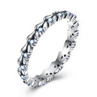 comeon® Finger-Ring, Thailand, verschiedene Größen vorhanden & für Frau & mit kubischem Zirkonia, 3mm, verkauft von PC