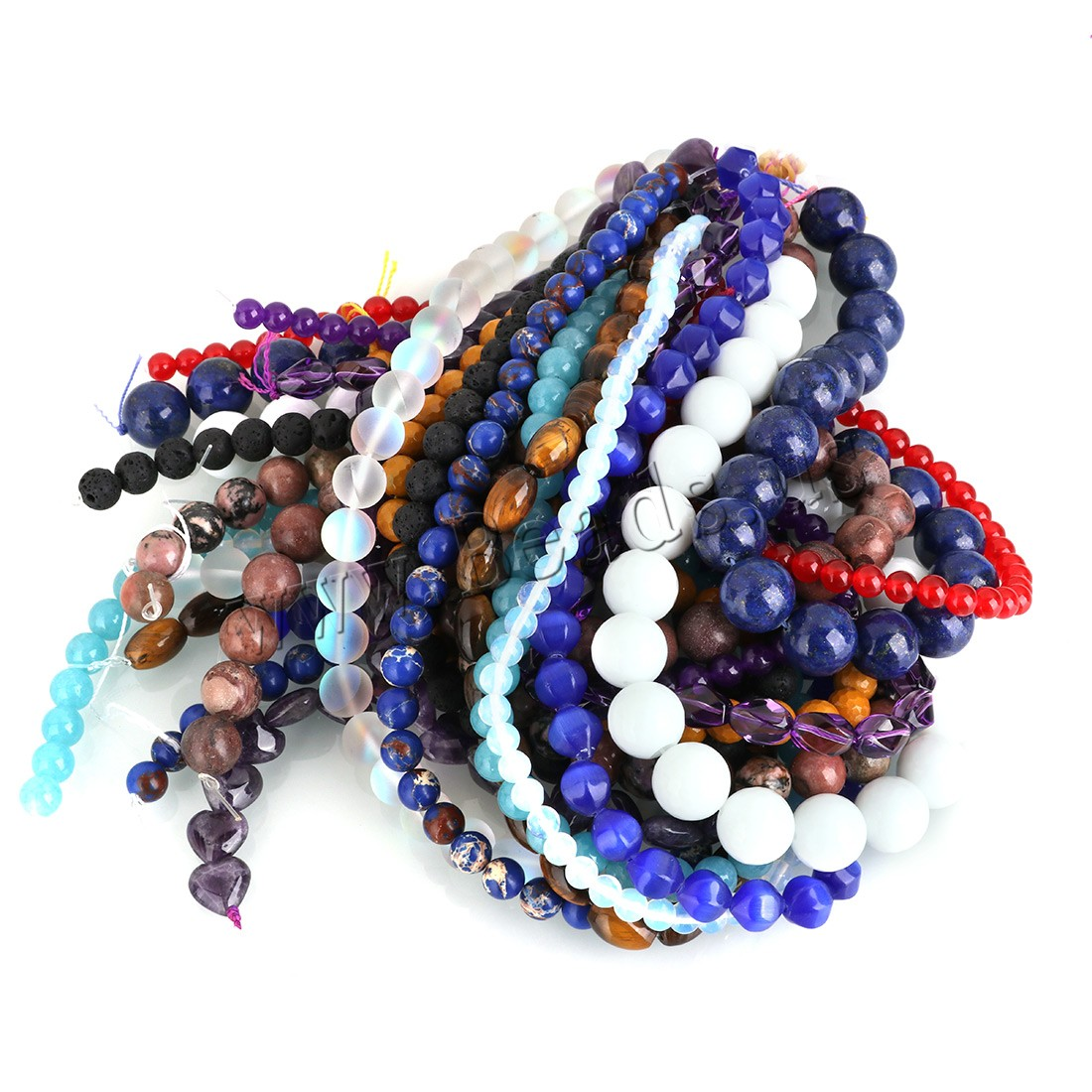 Buy Mixed Gemstone Beads natural 6-15mm Hole:Approx 0.6mm Approx 30-70PCs/Strand Sold Per Approx 15 Inch Strand