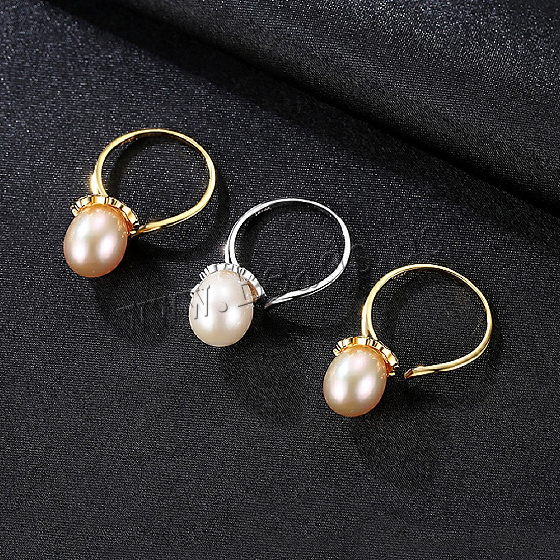 Buy Freshwater Pearl Finger Ring Brass Freshwater Pearl plated woman & cubic zirconia colors choice nickel lead & cadmium free 9.58mm US Ring Size:7-9 Sold PC