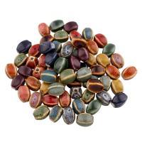 Glasierte Porzellan Perlen, glaciert, keine, 10x14mm, Bohrung:ca. 3mm, 100PCs/Tasche, verkauft von Tasche