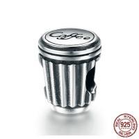 Thailand European Perlen, ohne troll, 8x11mm, Bohrung:ca. 4.5-5mm, verkauft von PC