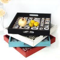 Serving Gerichte und Tabletts, Holz, mit Brief Muster, keine, 348x50mm, 2PCs/Menge, verkauft von Menge