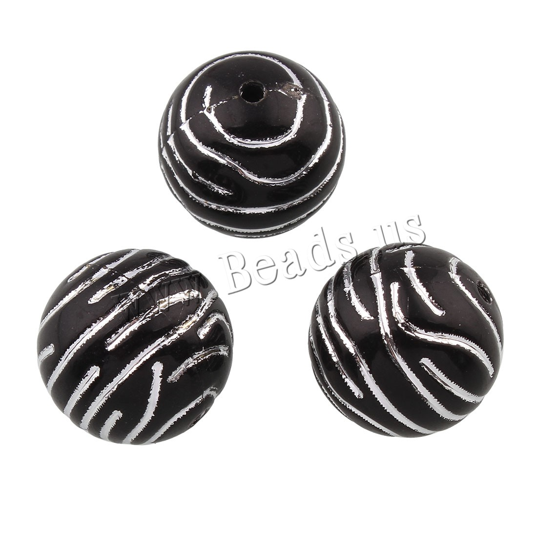 Buy Acrylic Beads Round 16mm Hole:Approx 1.5mm Approx 207PCs/Bag Sold Bag