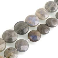 Labradorit Perlen, flache Runde, verschiedene Größen vorhanden, Bohrung:ca. 0.5mm, verkauft per ca. 15 ZollInch Strang