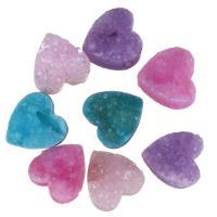 Eis-Quarz-Achat-Anhänger, Eisquarz Achat, Herz, druzy Stil, keine, 9-10x9-10x4-5mm, Bohrung:ca. 1mm, verkauft von PC